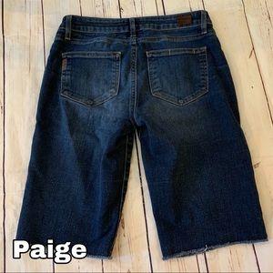 Paige size 27 denim jean Capri shorts EUC